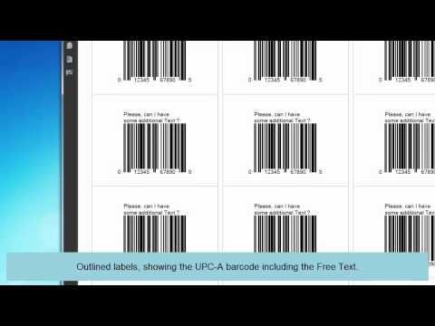 Create a UPC-A barcode