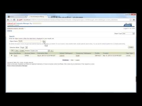 Default Tablespace and Temporary Tablespace for a new Oracle Database user - Database Tutorial 46