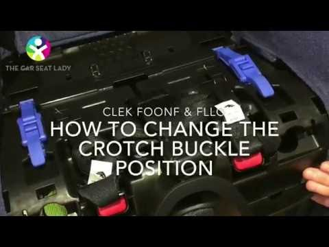 How to change the crotch buckle on a Clek Foonf or Fllo car seat