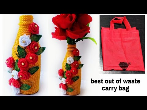 DIY/ Flower pot out of waste material/Best out of waste idea