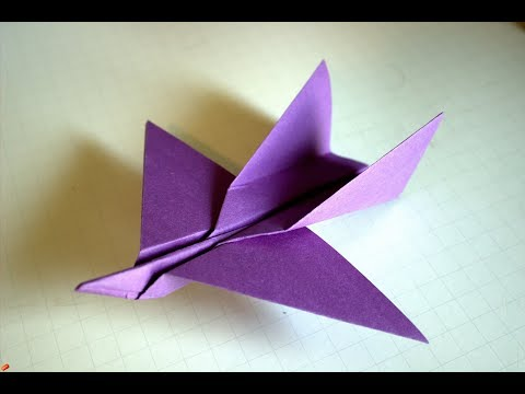 How to make a simple origami paper airplane