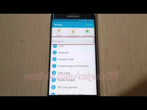 Android 5.0 : How to Turn On or Turn Off Mobile Hotspot in Samsung Galaxy S6