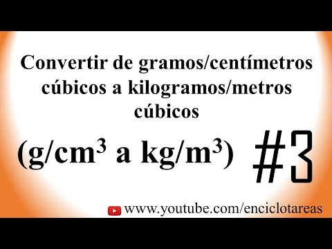 Convertir de g/cm3 a kg/m3 (Parte No.3)