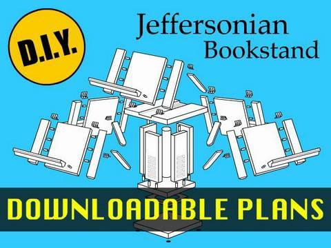 How to Make a Thomas Jefferson (Jeffersonian) Bookstand with Downloadable Plans
