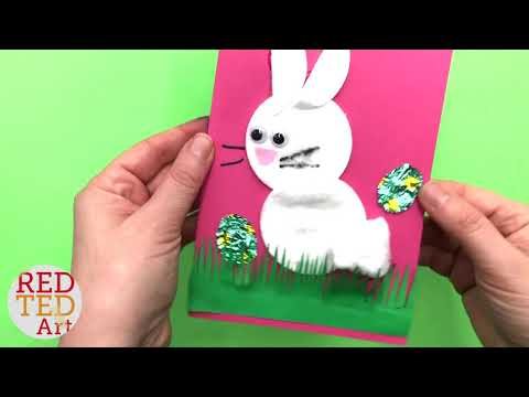 Quick Bunny Card DIY - Cotton Wool Pad Bunny Cards for Easter - Easter Cards