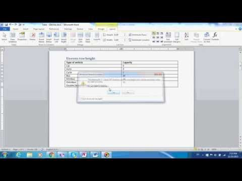 Word Tables Part 3: How to make all rows in a table the same height