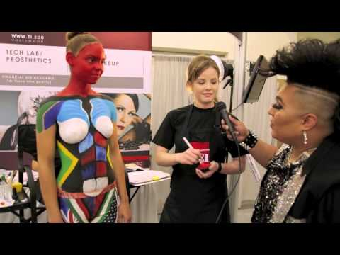 EI School of Professional Makeup at the 2014 PHAMExpo