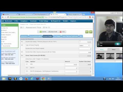 1 (Filing returns online) How to file ITR 1 Return in case of Salary income