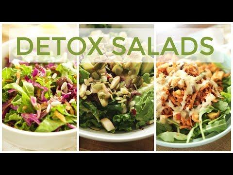 3 DETOX SALAD RECIPES | Easy & Healthy Recipes