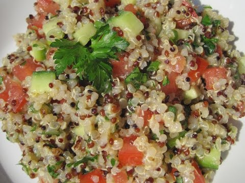 QUINOA W/ TOMATOES CUCUMBERS & FRESH HERBS - How to make QUINOA Recipe