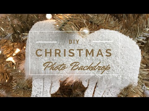 DIY Christmas 2017 Photo Backdrop + How to Fluff a Christmas Tree Tutorial