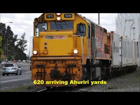 Freight train movements around Napier New Zealand 05 02 2018