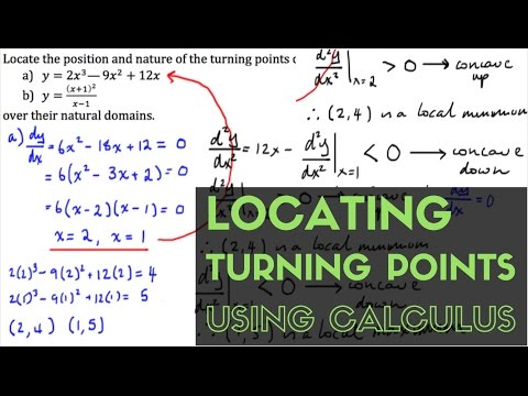 Locating Turning Points Using Calculus