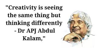 Best Quotes on Creativity || Creativity is seeing the same thing but thinking differently