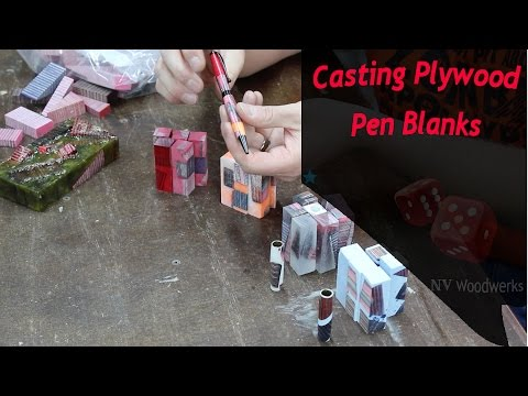 Casting Pen Blanks With Dyed Wood and Alumilite Resin
