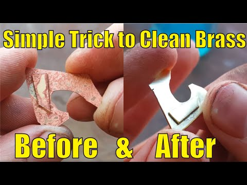 Simple Trick to Clean Brass After Soldering