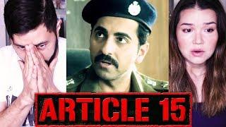 ARTICLE 15 | Ayushmann Khurrana | Anubhav Sinha | Trailer Reaction by Jaby & Achara | Zee Music