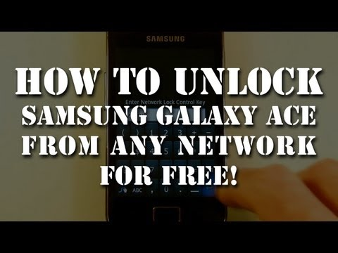 Unlock Samsung Galaxy Ace GT S5830 from any network fo free. English