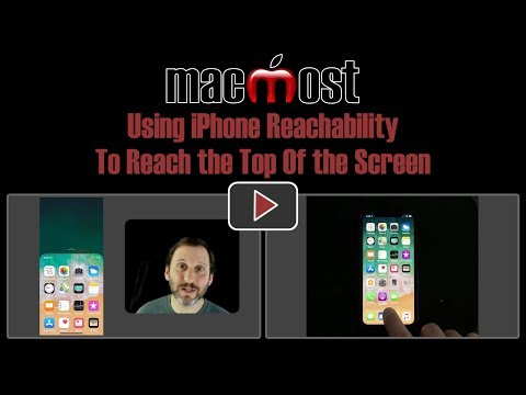 Using iPhone Reachability To Reach the Top Of the Screen (MacMost #1813)
