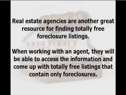 How To Find Totally Free Foreclosure Listings