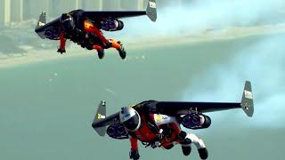 AMAZING Jet Pack Stunt Around Dubai   What