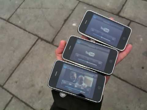 You Tube streaming test in UK on iPhone