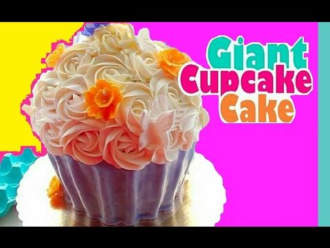 Giant Cupcake Cake   No Mold