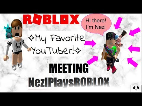 MEETING NeziPlaysROBLOX MY FAVORITE YOUTUBER! OMG! ROBLOX | Bloxburg |