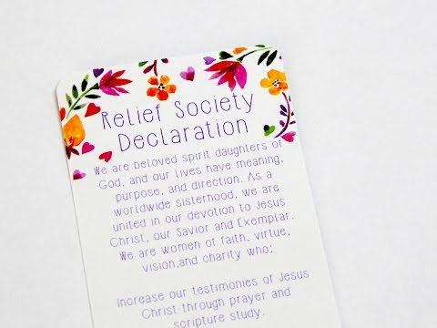 Relief Society Declarations Bookmark