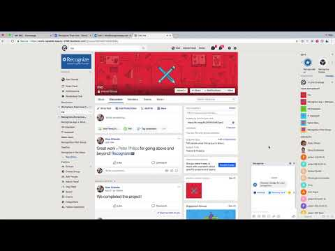 Recognize integration into Workplace by Facebook