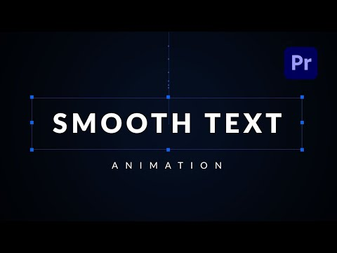 Smooth Professional Text Animation in Premiere Pro - TUTORIAL