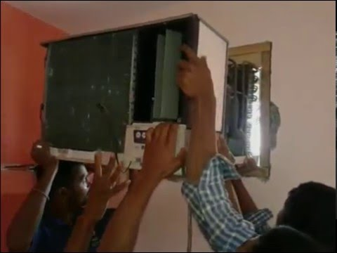 How to install air conditioner with wooden frame