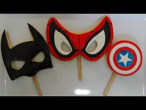 tutorial how to make superhero cookies step by step