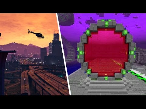 HOW TO MAKE A PORTAL TO GTA 5!! Minecraft