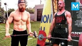 Cesaro & Sheamus Training for WWE | Muscle Madness