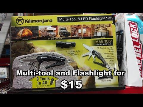 Multitool + flashlight deal at Sam's Club - Kilimanjaro Magnus