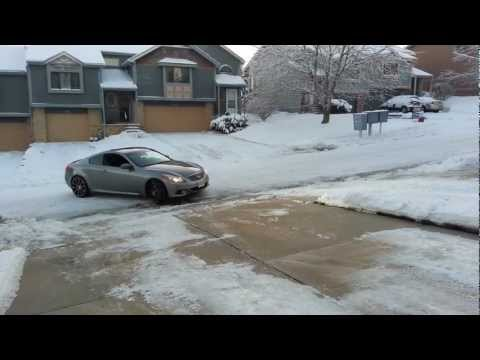 Infiniti G37 snow day with all season tires