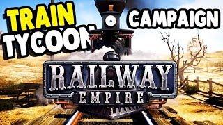 First Look   Building Huge American Railway   Tycoon Simulation Railway Empire Gameplay