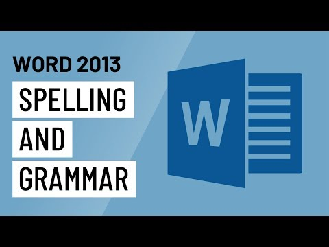 Word 2013: Spelling and Grammar