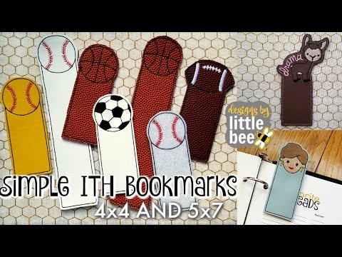 Easy ITH Bookmark Tutorial from Designs by Little Bee