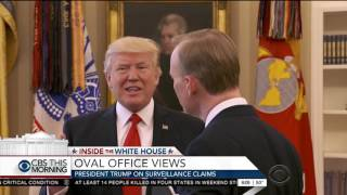 Trump gets annoyed with questions about Obama, ends CBS interview:
