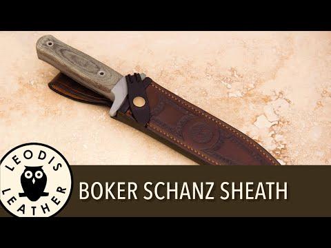 Making a Leather Sheath for a Böker Schanz Dagger