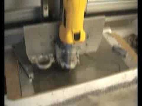 Cutting a wind turbine part on my CNC router mill