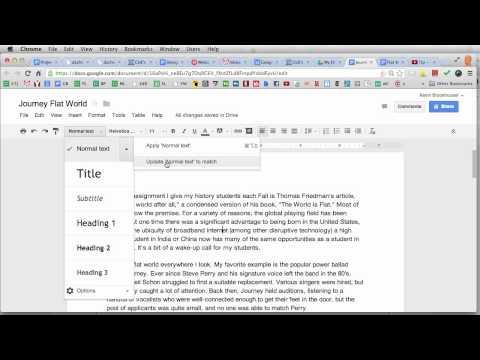 Changing Default Font in Google Docs