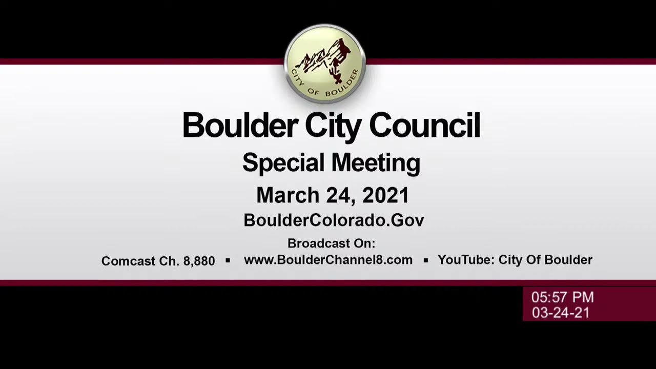 Boulder City Council Special Meeting 3-24-21