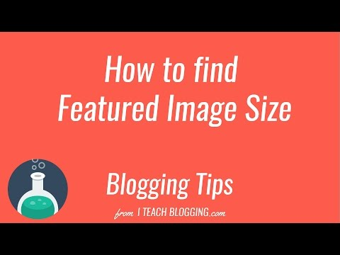 How to find the blog featured image size