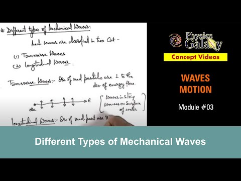 3. Class 11th Physics | Waves Motion | Different Types of Mechanical Waves | by Ashish Arora