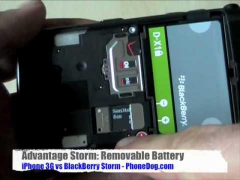 BlackBerry Storm vs iPhone 3G, Part 1 - Form Factor & Phone