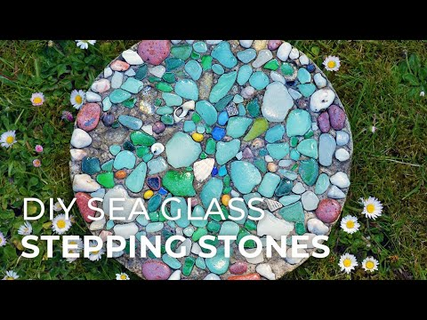 How to make Sea Glass Stepping Stones