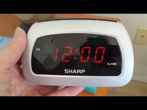 Sharp Alarm Cock - Setting the Time